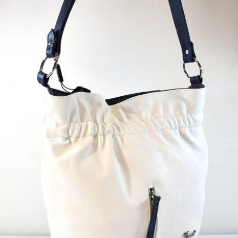 Dámska vaková športovo elegantná biela kabelka