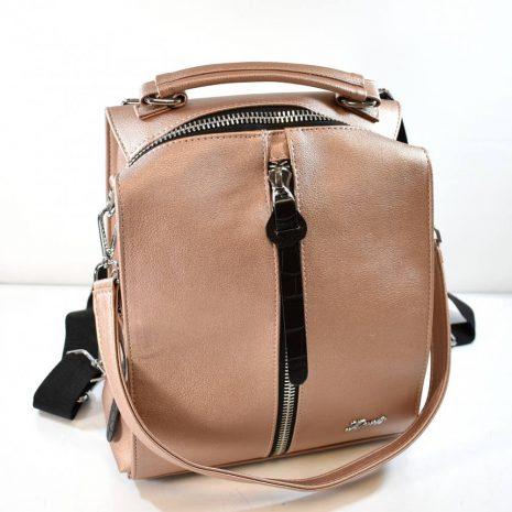 Dámsky pudrový ruksak a kabelka 2v1 KAREN