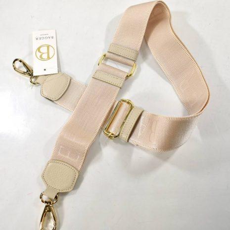Prídavné dlhé ramienko na kabelku krémové BAGGER