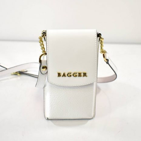 Mini crossbody biela taštička/kabelka BAGGER