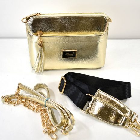 Štýlová crossbody dámska zlatá kabelka