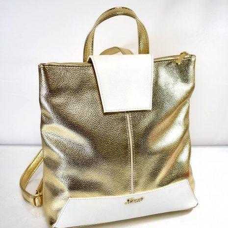 Extravagantný dámsky zlatý ruksak KAREN - Gabi Bags