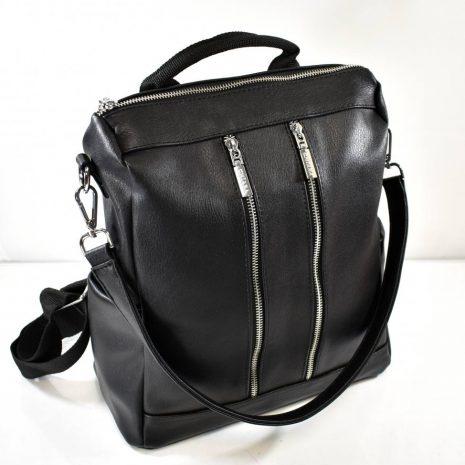 Praktický dámsky čierny ruksak