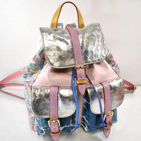 Farebný štýlový dámsky kožený ruksak ITALY