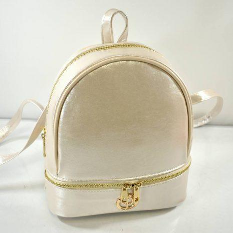 Elegantný menší dámsky zlatistý ruksak