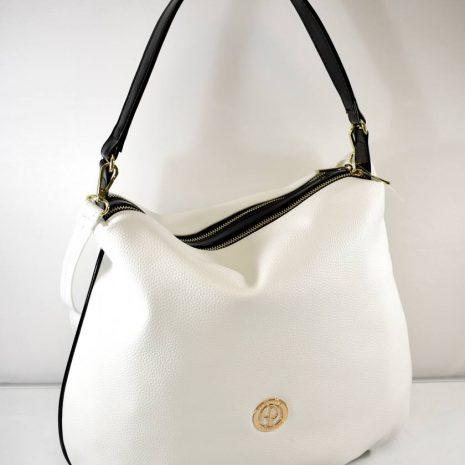 Dámska bielo čierna kabelka na rameno