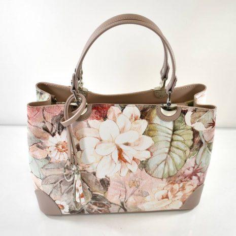 Elegantná dámska kožená kvetinová kabelka ITALY V88 - Gabi Bags