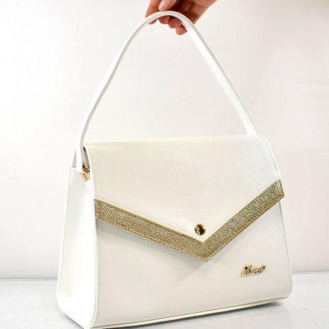 Elegantná dámska biela kabelka do ruky