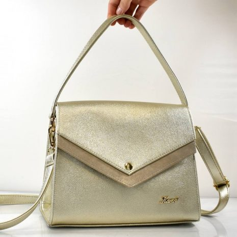 Elegantná dámska zlatá kabelka do ruky