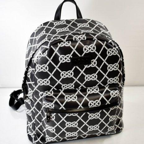 Veľký dámsky praktický čierno biely ruksak
