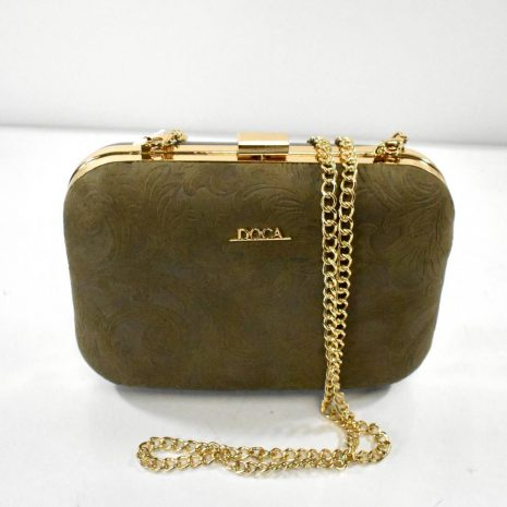 Spoločenská dámska hnedá kabelka DOCA