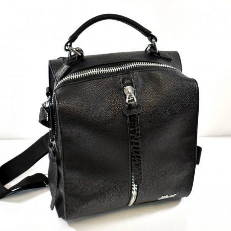 Praktický dámsky čierny ruksak a kabelka