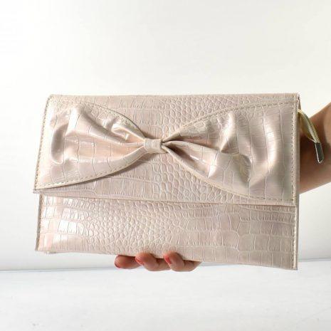 Spoločenská dámska listová pudrová kabelka DIVA