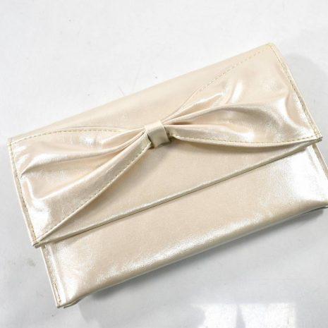 Spoločenská dámska listová zlatá kabelka DIVA