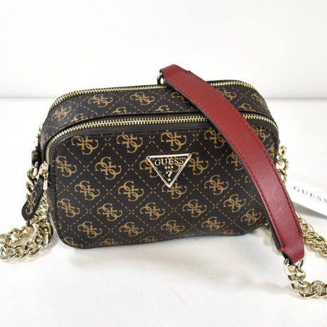 Malá crossbody hnedá dámska kabelka GUESS
