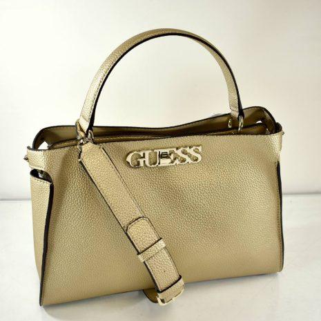 Elegantná dámska zlatá kabelka do ruky GUESS