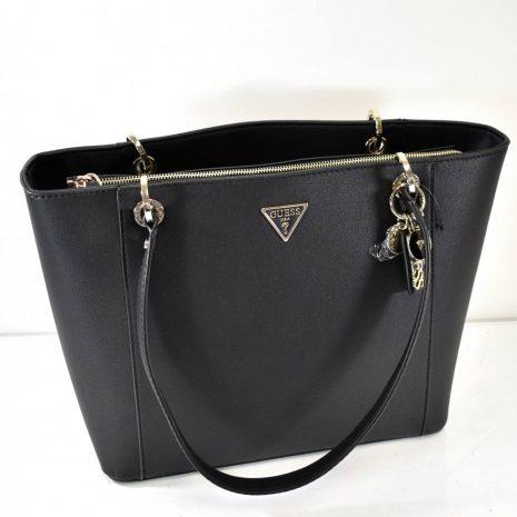Veľká dámska elegantná čierna kabelka GUESS