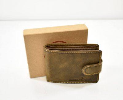 Elegantná pánska peňaženka z kvalitnej prírodnej recyklovanej kože, šetrnej k životnému prostrediu