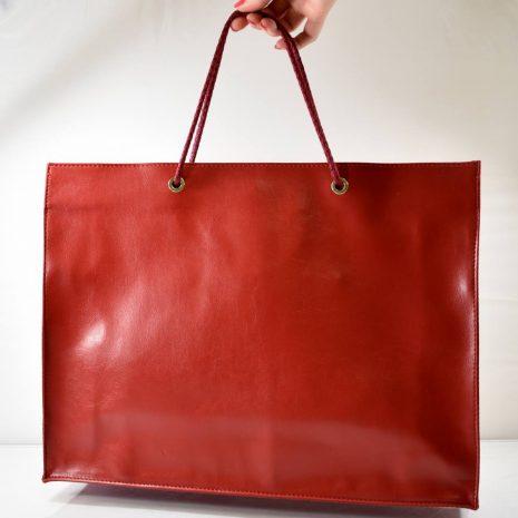 Elegantná veľká nákupná červená taška BAGGER