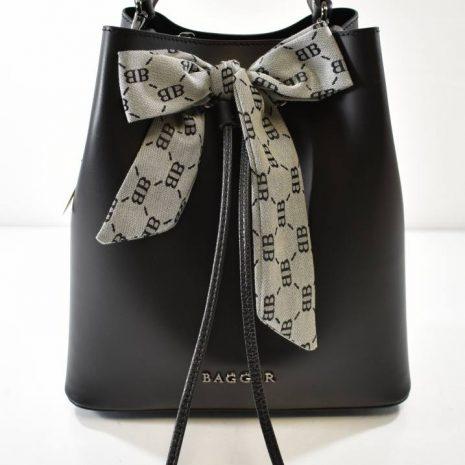 Dámska kožená dvoj kabelka BAGGER čierna