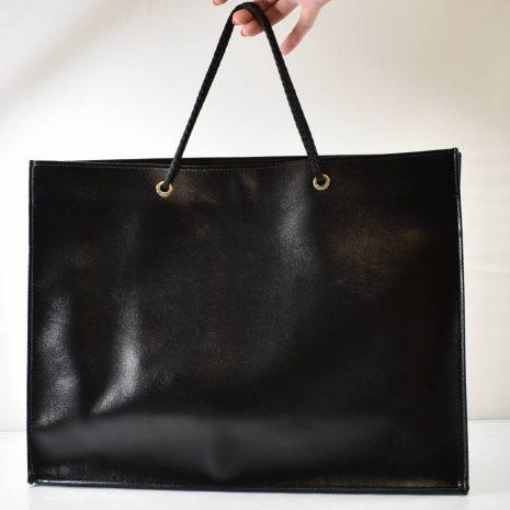 Elegantná veľká shopper čierna matná taška BAGGER